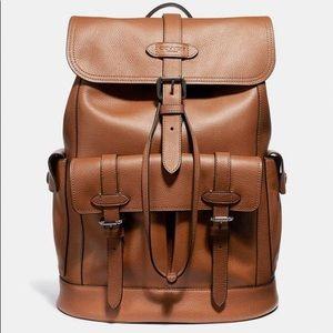 Coach Hudson Men's Backpack in Saddle Leather